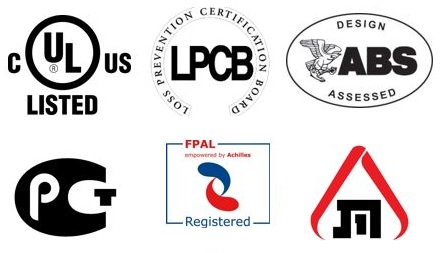 Certifications and approvals - Fire Protection department